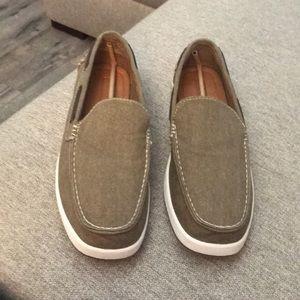 Men's canvas boat shoe Khaki/light brown